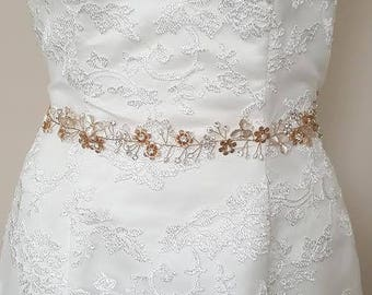 Gold bridal sash | Etsy