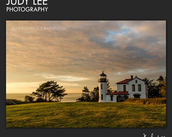 Admiralty Head Lighthouse on Whidbey Island Landscape Print