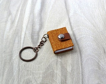 Small notebook keychain, Tiny journal, Mini book, Mini journal, Book lovers gift