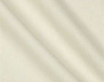 Off White Wool Double Crepe, Fabric By The Yard