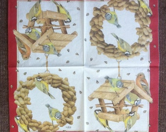 PN-109 Birdhouse Feederfor Birds Collectibles Scrapbooking Napkins for Decoupage Decoupage Napkins DECOUPAGE SERVIETTE