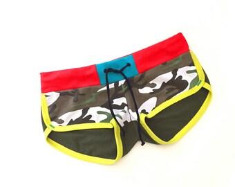 Camo Candy Retro Terry Dolphin Shorts