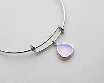 Violet Opal Bangle Bracelet, Adjustable Bangle, Bangle Bracelet, Expandable Bracelet, Bridesmaid Jewelry