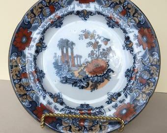 "Antique Cleopatra Ironstone Transferware 10"" Plate"