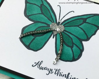Thinking of You Handmade Greeting Card - Stampin' Up Beautiful You