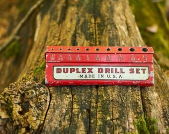 Vintage Duplex Drill set index