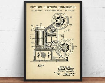 Movie lighting patent print instant download poster stage home theater decor motion picture projector patent prints digital download vintage blueprint art movie room wall art film reel artwork malvernweather Images