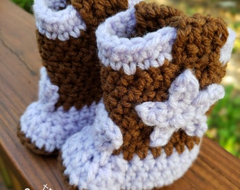 Crochet Cowgirl / Cowboy Boots