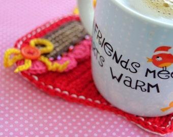 Crochet pattern - Coffee mug coaster by VendulkaM - / Kitche table / digital pattern/DIY