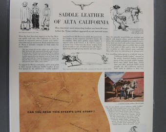 Farm  # 113   California Saddle Leather    Magazine Ad - June 1955