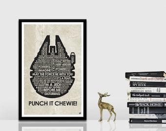 Star Wars - Millennium Falcon Quote Poster