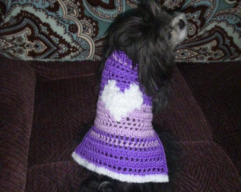 CUDDLE MY HEART - Valentine Dog sweater - Many colors - Soft Cuddly - 2 to 20 lb dog - Made to order