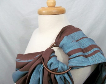 Wrap Conversion Ring Sling Baby Carrier - Twill Weave Pleated Shoulder - DVD included