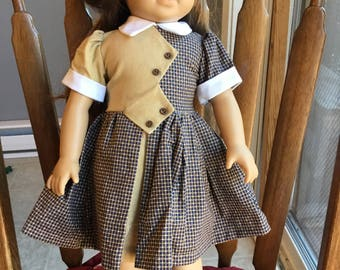 "Vintage style dress fits 18"" dolls such as American girl."