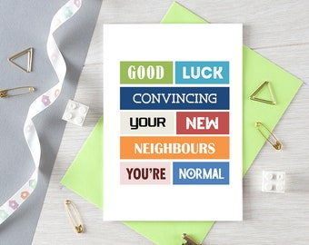 Funny New House Card | New Home | Moving House | Happy New Home | Housewarming Gift | New Chill Place | Blank | SE0105A6