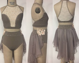 Adult XS taupe dance costume