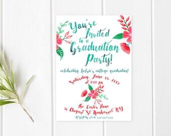 Graduation Party Invitation, Graduation Party, Grad Party Invite, Graduation Invitation, College Graduation Invite, Printable Invites [250]