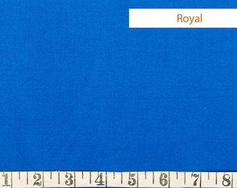Royal kona blue cobalt cotton fabric by the yard