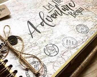Handmade Personalised Memory Book/ Travel Scrapbook/ Photo Album/ Adventure/Guestbook/A4 Luxury
