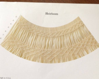 Heirloom smocking plate, vintage smocking plate, vintage smocking, Julia Golson Design,
