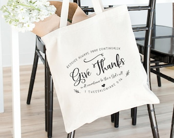 Give Thanks Heavy Canvas Tote