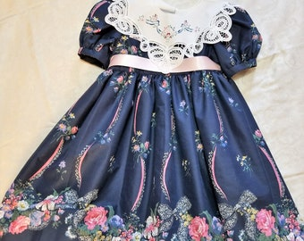 Daisy Kingdom Homemade Dress with Lace Collar Size 6