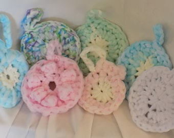 Two (2) Crochet Bath Scrubbies