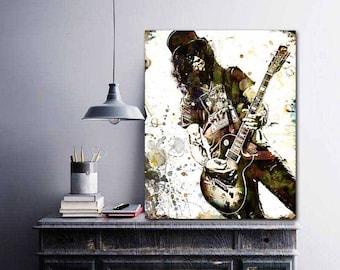 Slash Art, Slash, Slash Guitar, GNR, Slash Poster, Hard Rock Bands, Guitar Player, Rock Prints, Grunge Art, Cool Music Art, Prints, Posters