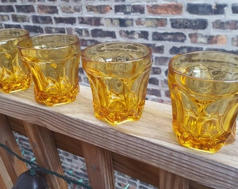 Anchor Hocking Fairfield Amber Old Fashioned Glasses, Set of 4