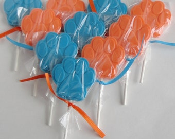 1 DOZEN Chocolate PAW PRINT Lollipops - Blues Clues, Clifford - Kids Paw Patrol Birthday Party, Baby Shower favor, Dog Lover Gift, Lion King
