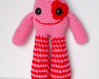 The Love Monster, stuffed monster, soft toy, monster, MADE TO ORDER