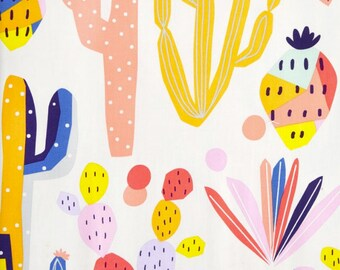 Girls Crib Bedding - Boho Fitted Crib Sheets / Cactus Changing Pad Covers / Cacti Fitted Crib Sheet / Pink Blue Nursery Bedding /Mini Crib