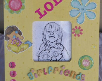 Yellow Girlfriends Picture Frame