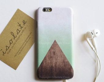triangle wood mint iPhone case iPhone 6 case Geometric wood iPhone 6 iPhone 5
