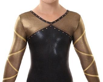 Elated Gymnastics Competition Leotard - Black