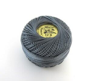 Gray Finca Perle Cotton Thread
