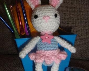 Crochet Rabbit, crochet bunny, crochet ballerina, Girl, Bunny Doll, Crochet, Toy Bunny, Ballerina Rabbit