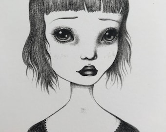 Sad Eyed Bug Eyes ~ 5x7 Art Print