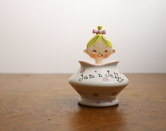Holt Howard Jolly Girl Pixieware Jam 'n Jelly Jar with Spoon