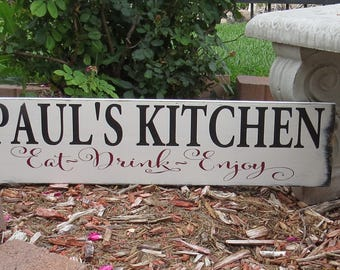 Personalized Kitchen Sign~Create Your Own Saying/Custom Sizes & Colors Available/Kitchen Sign/Shabby Chic/Vintage Kitchen/Housewarming Gift