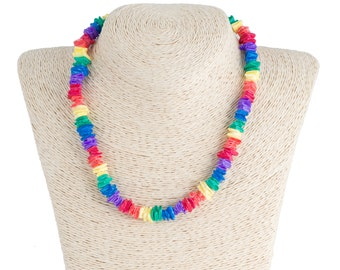 Multi Puka Chip Shells Necklace