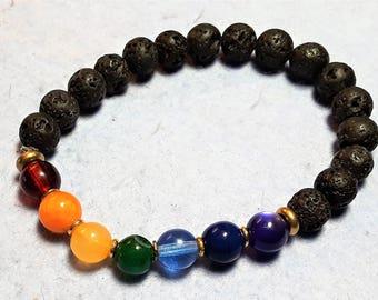 Mother's Day Gift Chakra Bracelet, Chakra Wrist Mala, Yoga Bracelet,  Beaded Rainbow Bracelet