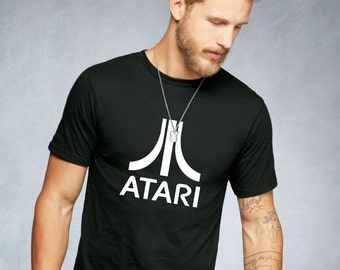 Atari T-Shirt Vintage Geek Retro Gamer T Shirt Old School Video Game Console Top Custom Printed Arcade T Computer Nerd TShirt