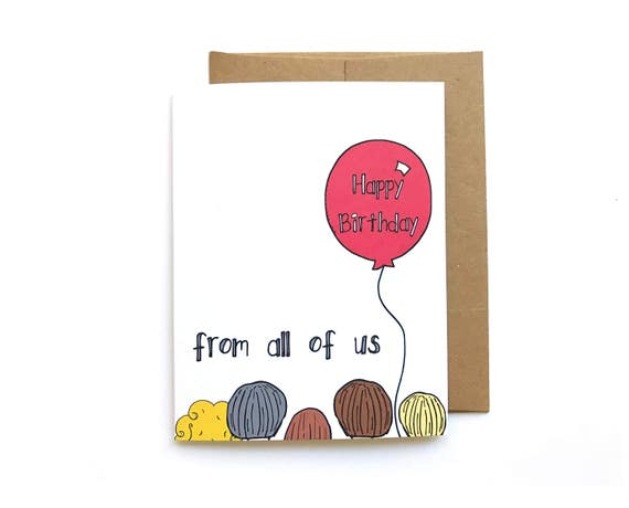 Birthday card from all of us boss birthday card happy like this item bookmarktalkfo Gallery