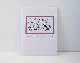 Joshua Tree Desert dance greeting card