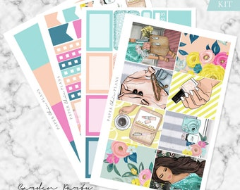 MINI KIT - 'Garden Party' // Erin Condren Planner Sticker Kit - MATTE
