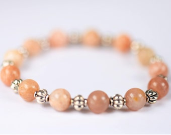 Sunstone 100% Natural Stone Healing Stretch Bracelet ~ SELF EMPOWERMENT