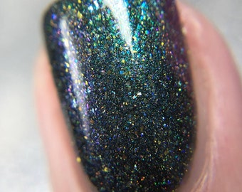 Nightshade - May 2018 OOAK of the Month - Multichrome Green and Pink Holo Indie Nail Polish