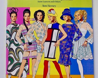 Great Fashion Designs of The Sixties Paper Dolls Tom Tierney vintage Dover Books 1991