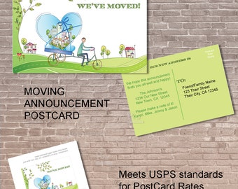 Moving Announcement Postcard / Instant Download  & Editable /New Home / We've moved / new address /  notice/ Label / Card /   PRINTABLE